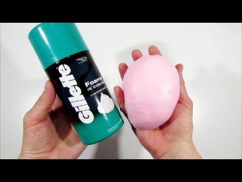 Como Hacer Fluffy Slime Con Espuma De Afeitar Gillette Youtube