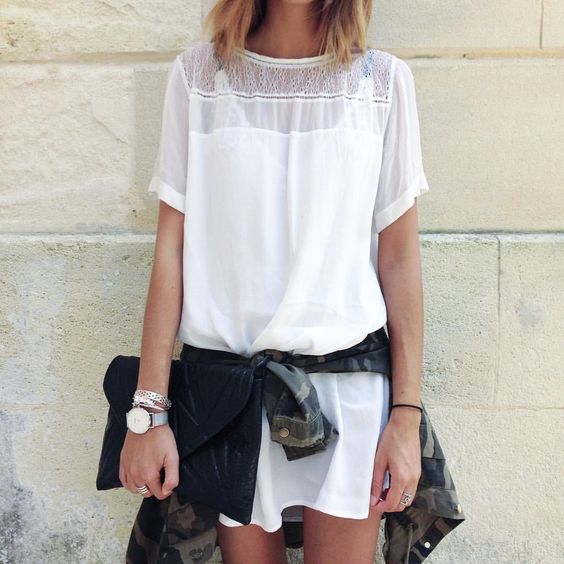 "Lisa Germaneau | ARCACHON på Instagram: ""@magalipascal x CAMO jacket || #look #shooting #camo #lace #white #home #beauty #dress"""