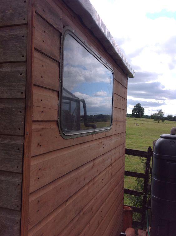 Old caravan window used