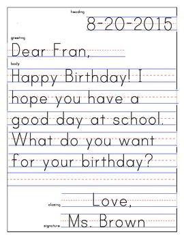 letter template 1st grade  First Grade Friendly Letter Template ] - friendly letters on ...
