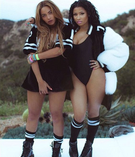 beyonce and nicki minaj swimsuit: