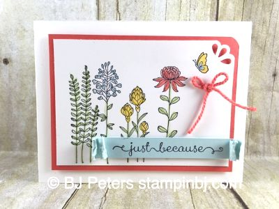 Flowering Fields, Sale-a-Bration 2016, Stampin' Up!, BJ ...