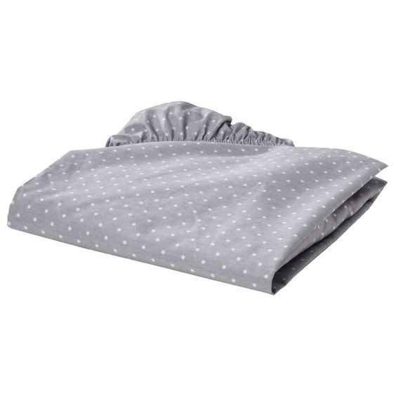 Circo® Fitted Crib Sheet - Grey Dot
