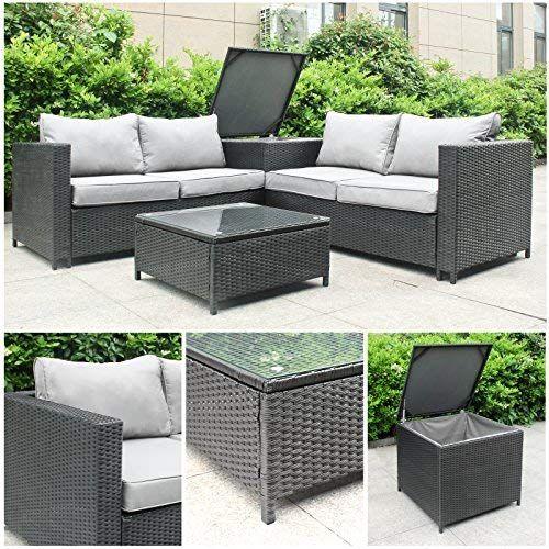 Rattan Polyrattan Lounge Sitzgruppe Garnitur Gartenmobel Aus 4