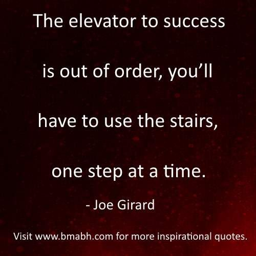 Motivational Quotes About Success: Funny Inspirational Life Quotes By Joe Girard Image-The
