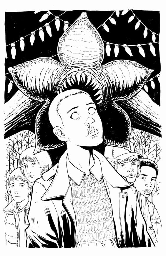 32 Stranger Things Coloring Book In 2020 Coloring Pages Stranger Things Art Stranger Things