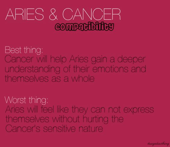 cancer and aries work relationship