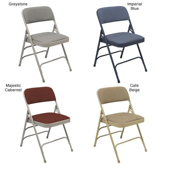 National Public Seating NPS Fabric Upholstered Premium Reinforced Folding Chairs