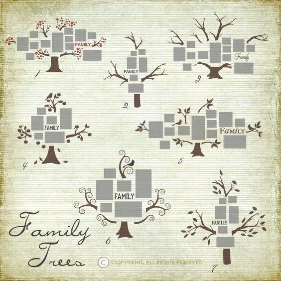 Formato de decoración con árbol