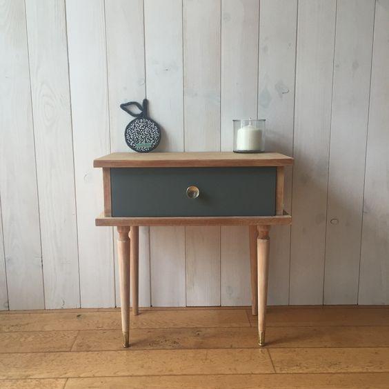 Table de chevet vintage. DailyKids Factory