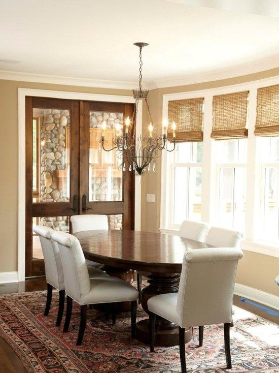 Color Combo Tan Walls White Trim Stained Doors White