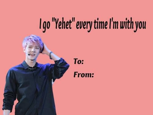kpop valentine made for me XD Cr KAmerica Facebook page yehet
