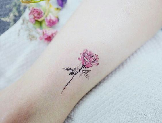 Kleine Rose Tattoos 30 Schone Kleine Rose Tattoo Ideen Tattoo Ideen Small Rose Tattoo Pink Rose Tattoos Watercolor Rose Tattoos
