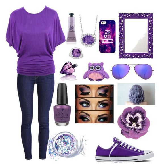 """Purple passion"" by vidonni84 ❤ liked on Polyvore featuring Levi's, Converse, jon & anna, OPI, Nourison, Howard Elliott, Casetify, In Your Dreams, Ray-Ban and Diesel"