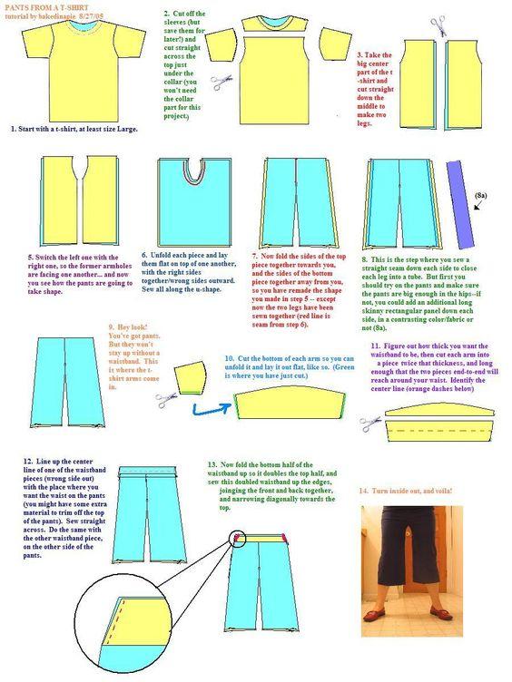 t-shirt pants tutorial