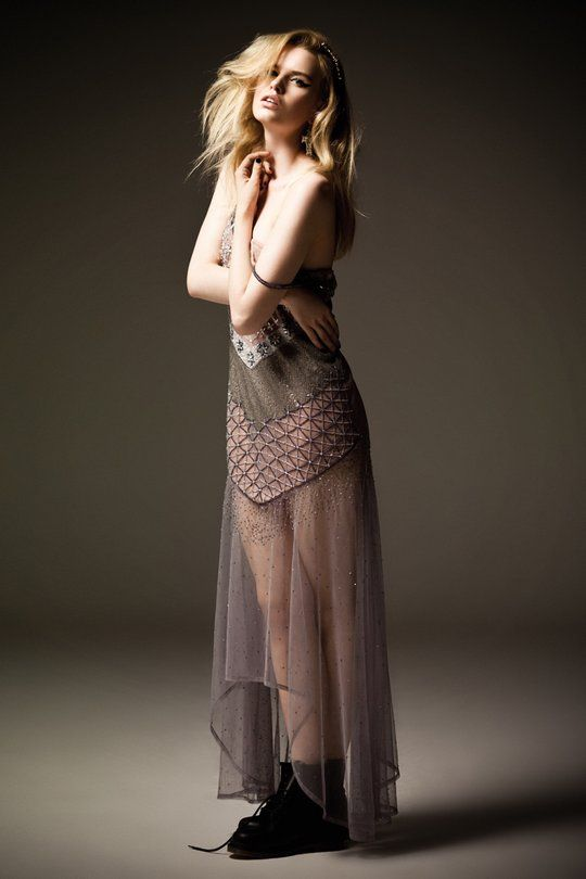 Beautiful sheer boho dress with a touch of rock 'n' roll!