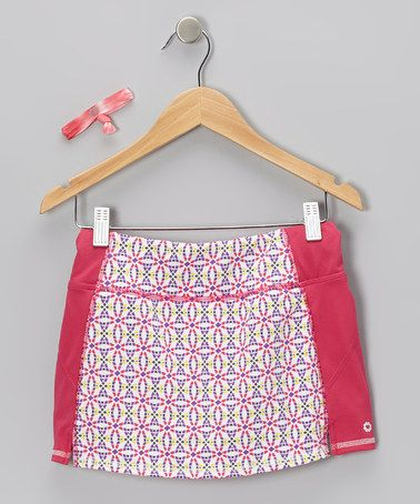 Take a look at this Pink Circle Giana Skort & Hair Tie by Gracie on #zulily today!