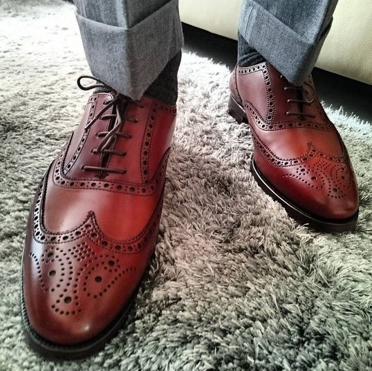 Finsbury, a classic full brogue oxford with wing tip ...