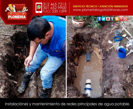 Instalación de redes de agua potable. #plomeria #plomero