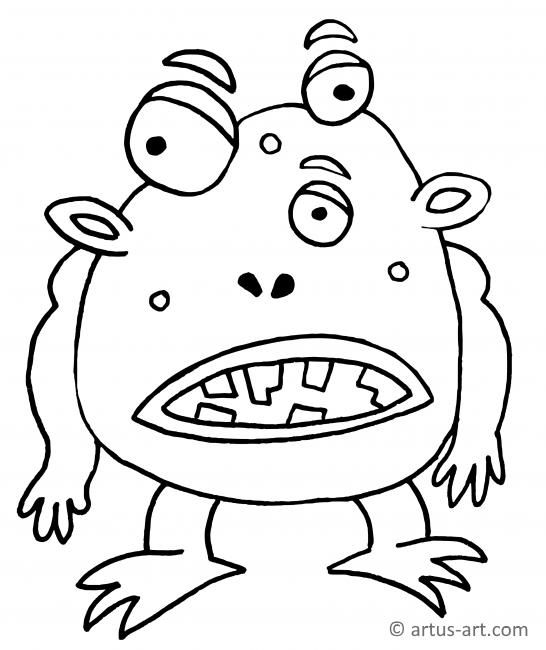 Cute and Scary Monster Coloring Pages   101 Coloring   650x546