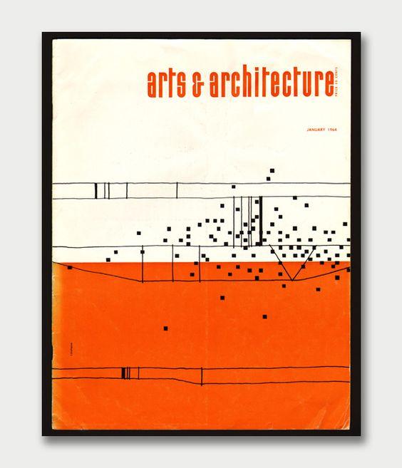 Arts & Architecture (January 1964) / Cover design by Ken Chapman #magazine #art #architecture