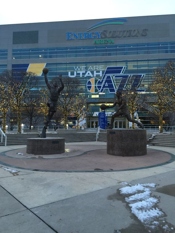Energy Solutions Arena! Home of the Utah Jazz!