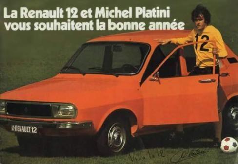 Avant de prendre ses fonctions en temps que président de l'UEFA, Michel Platini a été la star de la pub pour la Renault 12