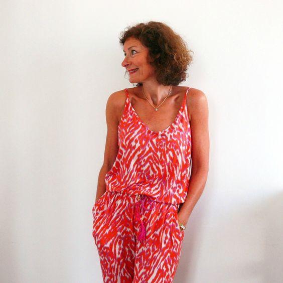 Top Miss de Aime comme marie + pantalon Anima de Papercut patterns