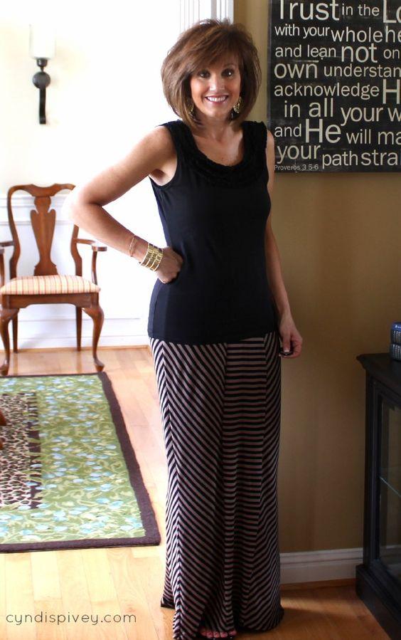 Maxi Skirt Fashion For Women Over 40 - For women- Skirt fashion ...