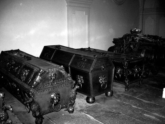 beautiful antique coffins...... !