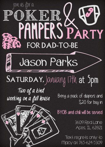 Printable New Dad Poker And Pampers Party By TagsforTots On Etsy For Only  $9.99