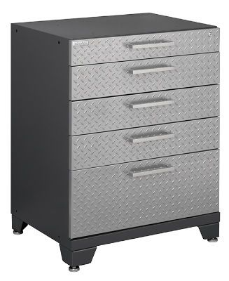 NewAge Performance Plus Silver Diamond Plate Tool Cabinet