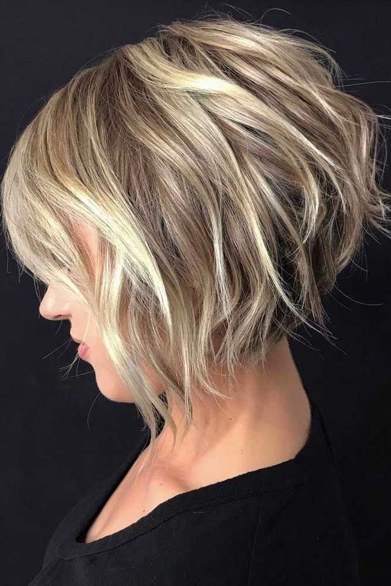 10 Balayage Short Hairstyles With Tons Of Texture Short Hair Color Ideas 2020 Inverted Bob Hairstyles Wavy Bob Hairstyles Thick Hair Styles