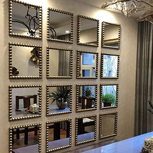Dzsw Dressing Mirror Wall Hanging Decorative Mirror Bedroom Living Room Wall Mi Wall Mirror Decor Living Room Mirror Decor Living Room Mirror Wall Living Room