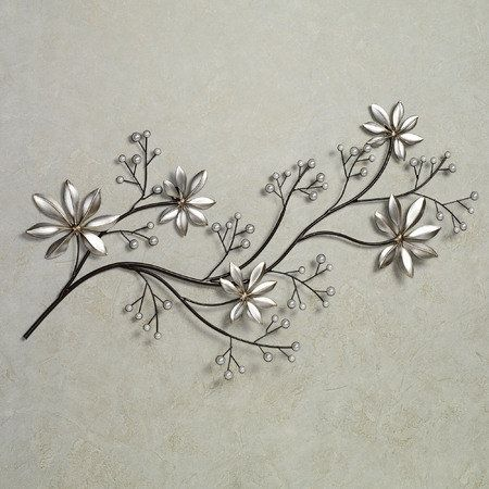 Pearl array floral metal wall art metal walls metals and ps - Wall decoration with pearls ...