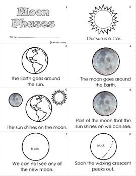 Printables Moon Phases Worksheet mini books we and worksheets on pinterest moon phases worksheet 16 page book tpt are using this as part of