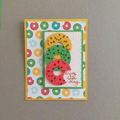 MidnightCrafting Doughnut Day Cherry on Top Stampin Up Endless Birthday Wishes Delightful Dijon Watermelon Wonder Cucumber Crush