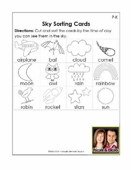 day and night worksheets for kindergarten ~ Brandonbrice.us