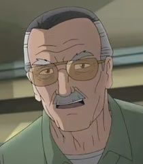 Stan Lee as the janitor from Ultimate Spiderman