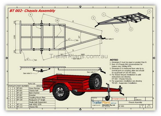 Box trailer plans build your own trailer www for Making a blueprint online
