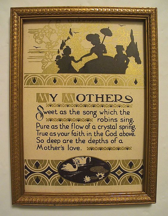 My Mother  Charming Mother Motto Silhouette Print