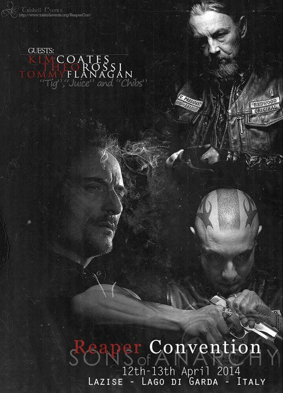 Reaper Convention - 12th - 13th April 2014 - Lazise (VR) - ITALY Guest announced: Kim Coates Theo Rossi Tommy Flanagan  http://www.triskellevents.org/ReaperCon/  Credit: Federica