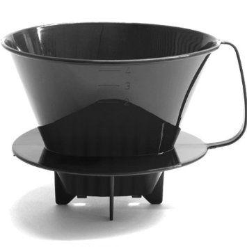 At only $5.99, this plastic filter cone that fits #4 filters is the cheapest way to use a pourover technique to brew great coffee. See the video in another pin. (Affiliate link, although I won't make much on this one! I want to show you the least expensive way to do things in addition to higher quality products)