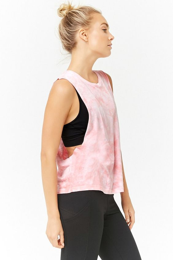 Product Name:Active Tie-Dye Muscle Tee, Category:Activewear, Price:12.9