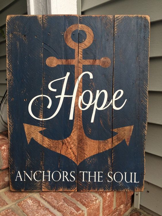 Pallet Wood Anchors And Hope Anchor On Pinterest