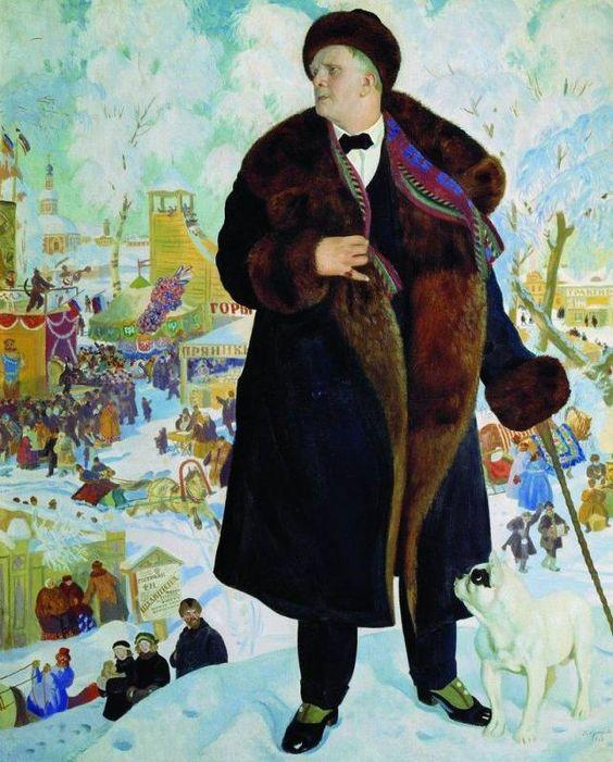 "Кustodiev Boris 1878-1927 The great opera singer, ""bass"" Feodor Chaliapin"