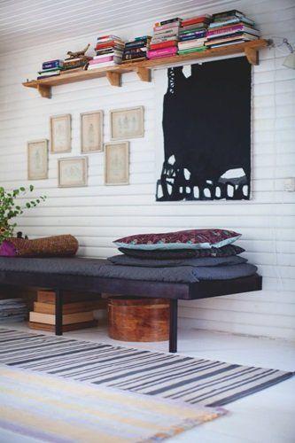 Et sommerhus med hjemmelavet hygge