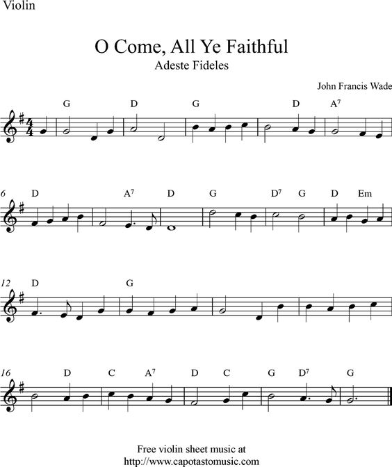 Sheet Music, Violin Sheet Music And Free Sheet Music On