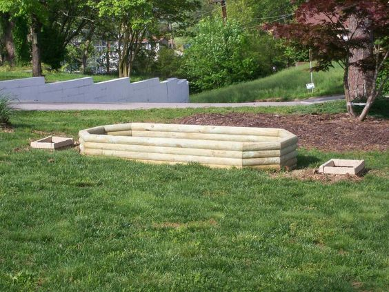 how to build a raised garden bed with landscape timbers