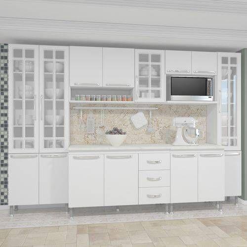 Cozinha Completa Fidelita Viena Modulada 6 Pecas 295 Cm 15 Portas